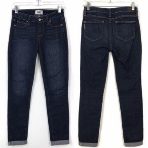 Paige Dark Wash Kylie Crop Skinny Jeans Amelia 26
